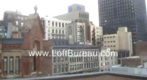 Loft avec magnifique vue de la terrasse sur le toit