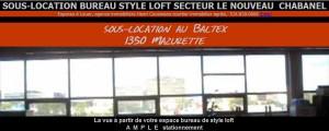 Bel espace loft commercial a louer Le Baltex