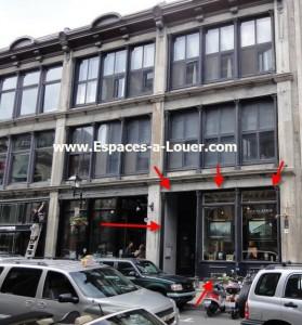 location loft commercial commerce de deail place d'armes