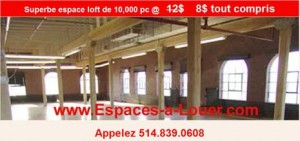 Location bureau style loft secteur marché Atwater