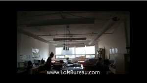 Loft style office space with a view