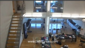 loft style office space on 2 floors